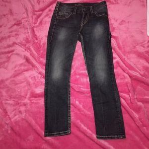 silver jeans suki capri size 25.